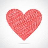 Red sketch heart design Stock Photos