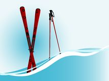 Red ski Royalty Free Stock Photos