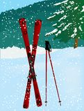 Red ski Royalty Free Stock Images