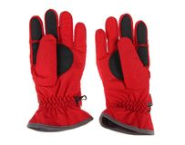 red ski gloves Royalty Free Stock Image