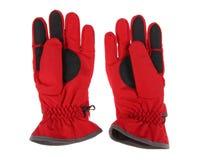 Red ski gloves Royalty Free Stock Image