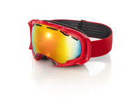 Red ski goggles  Stock Photography
