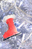Red ski shoes Stock Photos