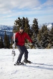 Red skier Stock Photography