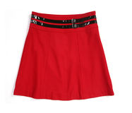 Red skirt. Isolated on white Stock Images