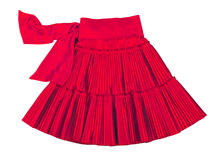 Red skirt Royalty Free Stock Photography