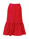 Red skirt Royalty Free Stock Images