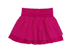 Red skirt with polka dots, isolate Royalty Free Stock Photo