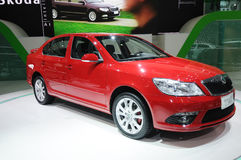 Red Skoda Octavia Royalty Free Stock Image