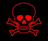 Red Skull and Crossbones Royalty Free Stock Photos