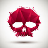 Red skull geometric icon made in 3d modern style, best for use a Royalty Free Stock Photography