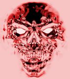 Red skull from hell. Generated by computer Royalty Free Stock Photo
