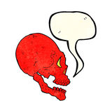 red skull illustration with speech bubble Stock Photos