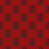 Red Skull Pattern Royalty Free Stock Images