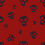 Red Skull Pattern Small Stock Photography