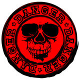 Red skull stamp danger Stock Photos