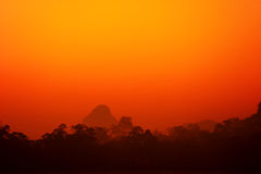 Red sky Stock Images