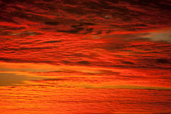 Red sky royalty free stock photos