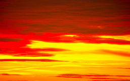 Red sky. Red and yellow colored sky Stock Images