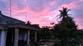 Beautiful sky at dusk royalty free stock photos