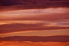 Red Sky Background. Cloudy Sunset - Reddish Clouds Above Arizona. Nature Photo Collection stock photography