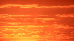 Red clouds and sunrise Stock Images