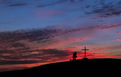 Red Sky Cross Royalty Free Stock Photo
