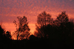 Red Sky in the Morning. Photo taken at sunrise in Traverse City, Michigan Royalty Free Stock Image