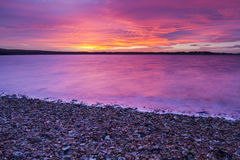 Red sky at night with vibrance Royalty Free Stock Photos