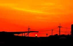 Red sky orange sunset sundown. Amazing amazing Stock Image