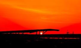 Red sky orange sunset sundown. Amazing amazing Stock Images