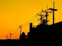 Red sky orange sunset sundown. Royalty Free Stock Photography