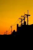 Red sky orange sunset sundown. Royalty Free Stock Image