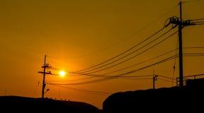 Red sky orange sunset sundown. Royalty Free Stock Images