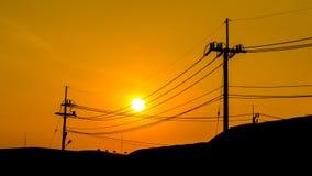 Red sky orange sunset sundown. Royalty Free Stock Photos