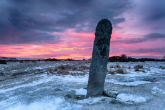 Red Sky over Bodmin Moor Royalty Free Stock Photos