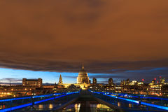 Red sky over the city of London Stock Photography