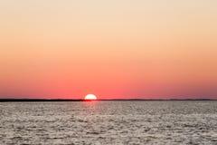 Red sky summer sunset. Sunset Atlantic Ocean Royalty Free Stock Photos