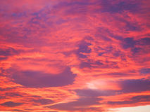 Red sky at sundown Royalty Free Stock Image