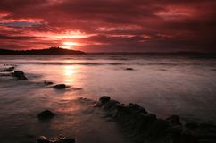 Red Sky Sunset Royalty Free Stock Photos