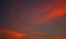 Red sky at sunset. The red glow in the sky at sunset Royalty Free Stock Photos
