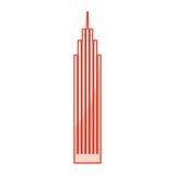 Red skyscraper cartoon Royalty Free Stock Photo