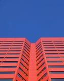 Red skyscraper in edmonton. A beautiful red skyscraper under the blue sky in downtown edmonton, alberta, canada Stock Images