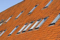 Slate roofing in Copenhagen. Red slate roofing of houses in Copenhagen, Denmark Stock Images