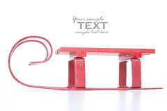 Red sledge. Isolated on white Stock Photo
