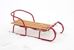 Red sledge Stock Photos