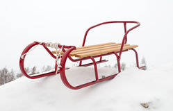 Red sledge Royalty Free Stock Photos