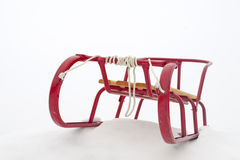 Red sledge Royalty Free Stock Photo