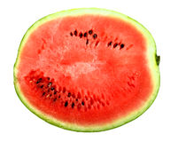 Only red slice of a ripe watermelon Stock Images