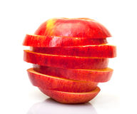 Red Sliced Apple Stock Image